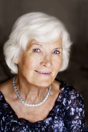 Eelgant senior lady portrait Stock Photo