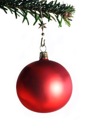 Christmas bowl on fir twig Stock Photo - 4098232
