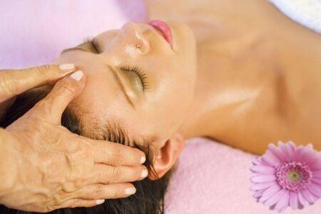 Woman gets head massage Stock Photo - 4126608