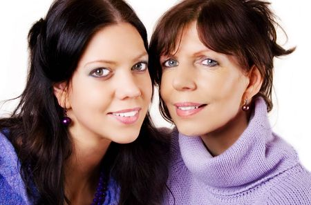 nearness: Mother and daughter, mature adult and young