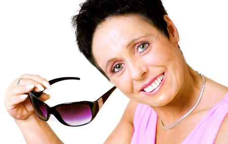 Mature woman with sunglasses Stock Photo - 4707838