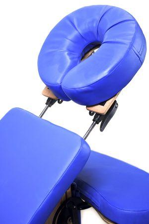 Blue massage seat on white background