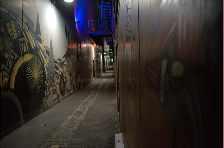 Dark, dirty, graffiti d alley way in Perth, Western Australia