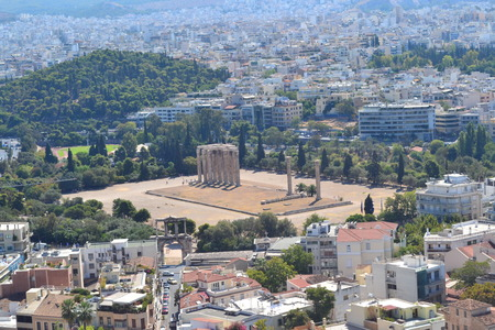 olympian: Athens landscape with Temple of Olympian Zeus