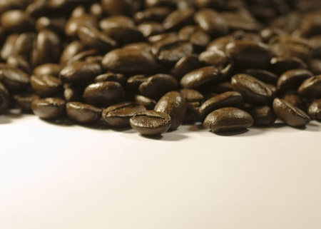 Coffee beans on white background Stock Photo - 8278822