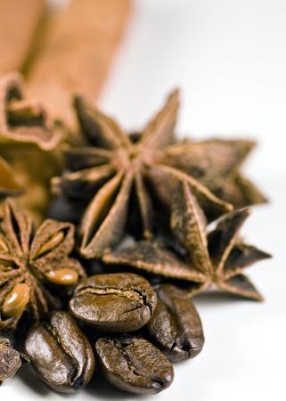 star anise coffee and cinamon Stock Photo - 8278850