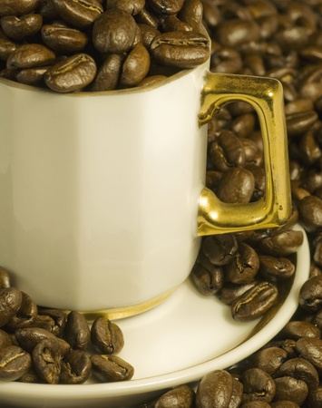 Coffee beans in cup Stock Photo - 8278854