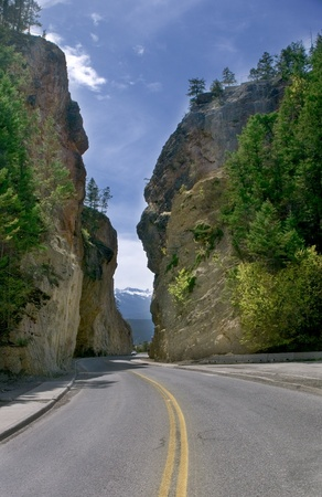 On the Road to Radium Springs in British Columbia Stock Photo