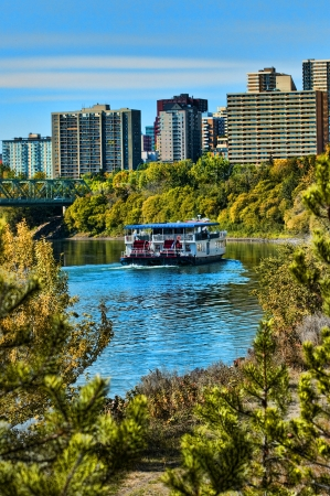 Edmonton riverboat Stock Photo