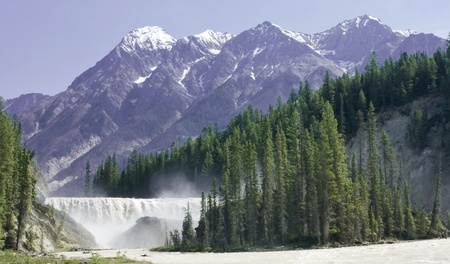 wapta falls in british columbia Stock Photo