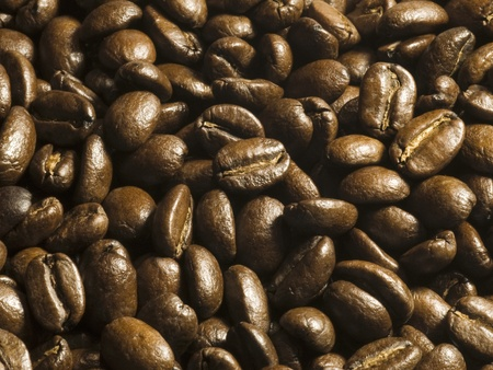 close up of roasted coffee beans Stock Photo