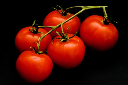 tomatoes in the vine Stock Photo