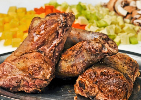 lamb shanks with vegetables for braising photo