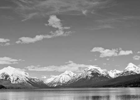 Black and white sky over Montana Stock Photo
