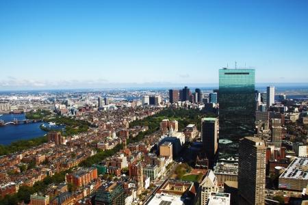 massachussets: Sweeping summer panorama of downtown Boston, Ma, USA Stock Photo