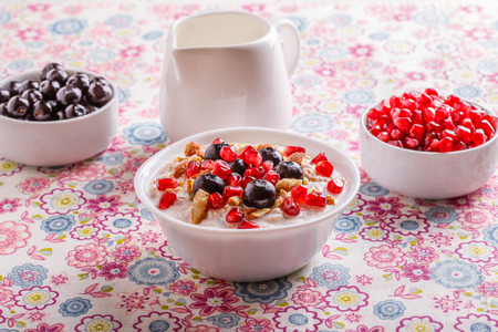 Muesli with fresh fruit - a good start to the day photo