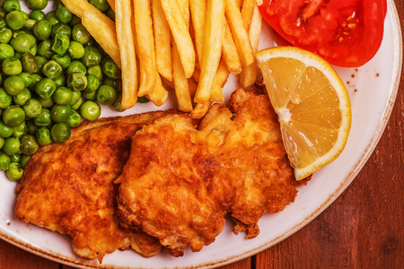 traditionally: Fish and chips - a traditionally English cuisine.