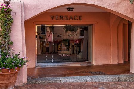 shopfront: PORTO CERVO - JULY 2017. Showcase of  boutique in Porto Cervo, Sardinia, Italy. Editorial