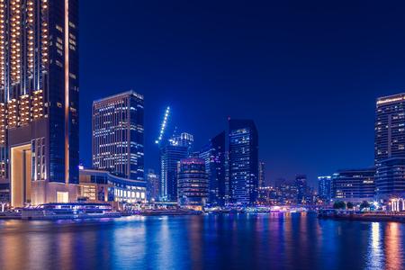 Promenade and canal in Dubai Marina,  Dubai,United Arab Emirates