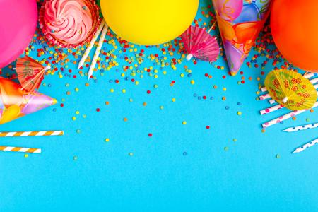 생일, 파티, 축제 또는 카니발에 대 한 밝은 장식. 스톡 콘텐츠