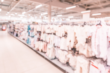 Blurred background-abstract blur shopping mall store interior. Stock Photo