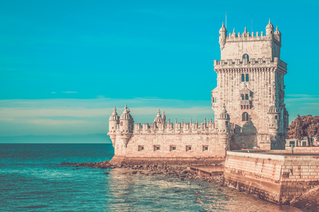 Tower of Belem (Torre de Belem), Lisbon, Portugal.