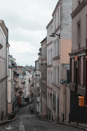 Street in Paris in the Montmartre area.