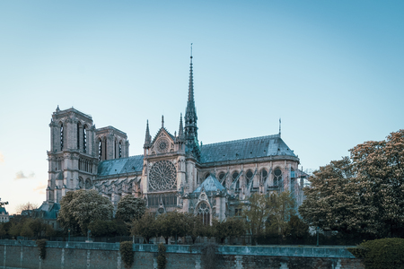 The Cathedral of Notre Dame de Paris, France Imagens