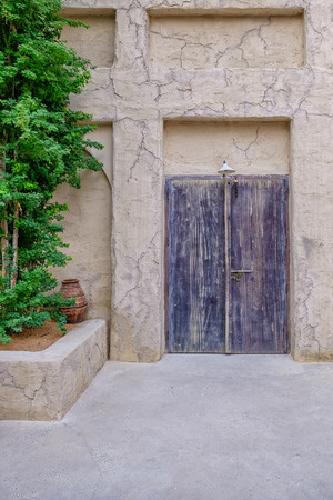 Traditional Arabic House Door.