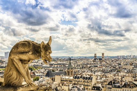 Gargoyle on Notre Dame Cathedral, Paris, France Stock Photo