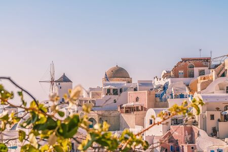 Oia village at sunset, Santorini island, Greece