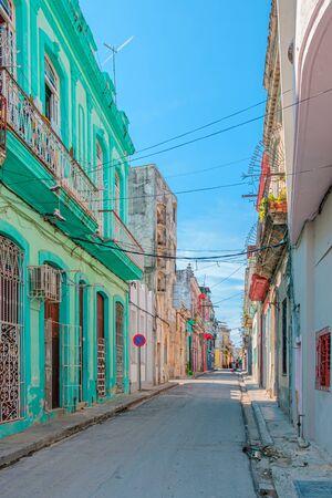 Street scene in old Havana, Cuba.