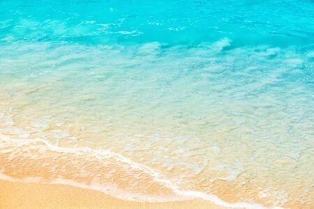 Fondo de la orilla del mar, espacio de copia.