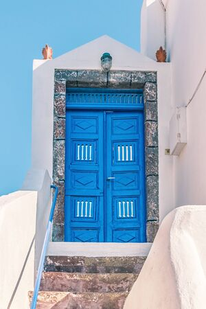 Wonderful view of City buildings on Santorini, Greece