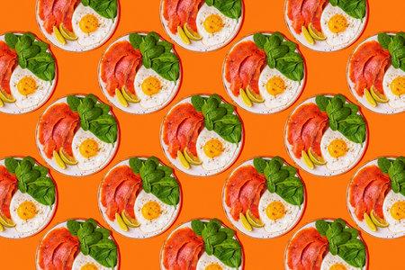 Pattern of ketogenic diet food, healthy meal concept. Reklamní fotografie