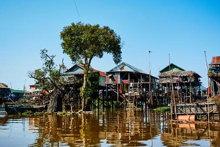Tonle Sap Drijvende reis van Kambodja Azië Stockfoto - 94847377