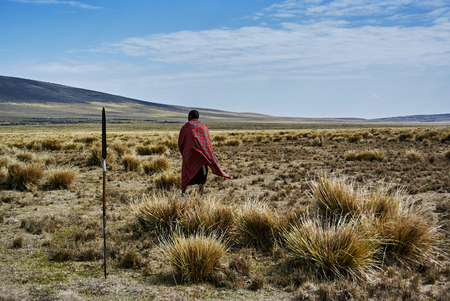Hikein Ngorongoro Conservation Area Nationnal park Highlands craters en route for Bulati Village from Nainokanoka with Masai Guide and cook. The Crater Highlands (Ngorongoro Highlands) are a region along the East African Rift in the Arusha and Manyara Reg