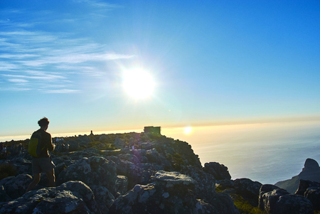 Table Mountain National Park, previously known as the Cape Peninsula National Park, is a national park in Cape Town Banque d'images - 103097015