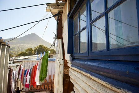 In south Africa, near cape-town, Imizamo Yethu township (Xhosa, meaning Our Efforts and commonly known as Mandela Park), is an informal settlement in the greater Hout Bay Valley area. The settlement is lacking important infrastructure: minimal water supply, few toilets and no sewerage system. Reklamní fotografie