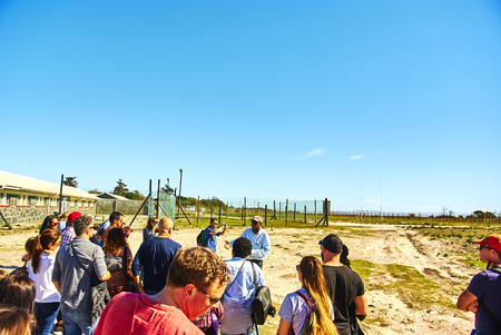 Robben Island (Afrikaans: Robbeneiland) island in Table Bay, west of the coast of Bloubergstrand, Cape Town, South Africa. The name is Dutch for