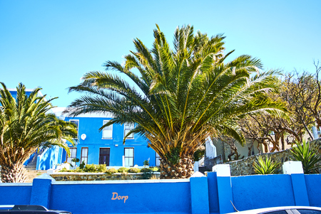The Bo-Kaap is known for its brightly coloured houses – think pink, green, blue and orange. Other tour highlights include Auwal Masjid (the first and oldest mosque in South Africa), the Bo-Kaap Museum and the spicy delights of Cape Malay food. Banque d'images - 103031418