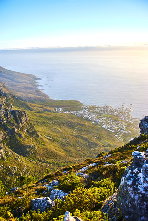 Table Mountain National Park, previously known as the Cape Peninsula National Park, is a national park in Cape Town, South Africa. Banque d'images - 105597575