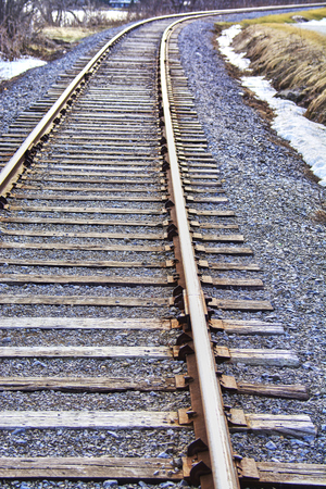 Train tracks in Canada during day time