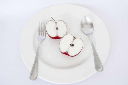 mono: apple plate on mono tone