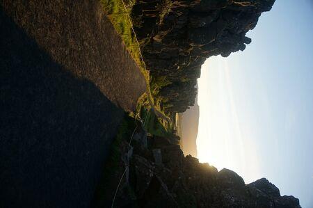 Sunny walk through Iceland national park