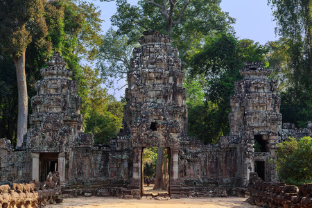The northern gate of the Preah Khan temple, Siem Reip, Cambodia