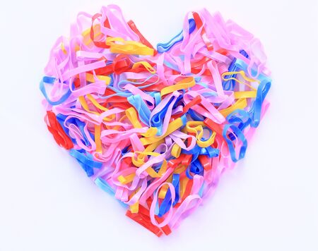 rubber bands: Rubber Bands in heart shape