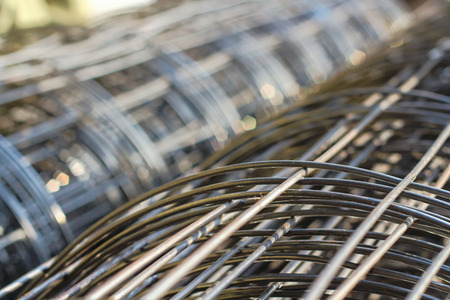 Steel Wire Mesh construction . Structural steel and cement