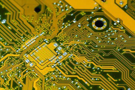 dirty: Closeup electronic circuit board dirty. Stock Photo