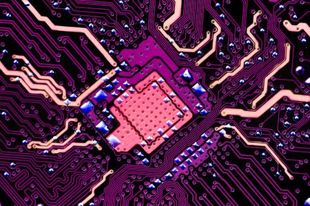 microprocessor: Closeup electronic circuit board dirty. Stock Photo